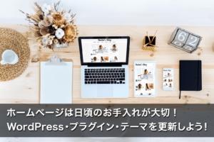ホームページは日頃のお手入れが大切!WordPress・プラグイン・テーマを更新しよう!